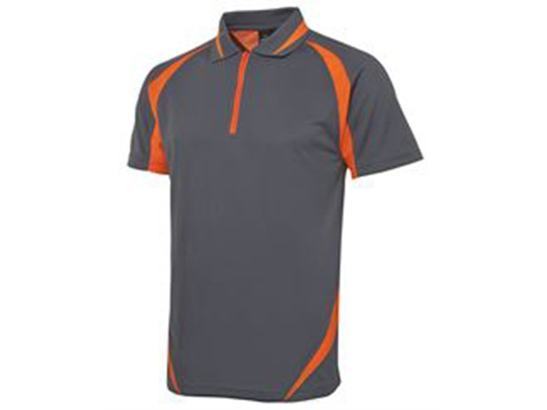ballarat embroidery team and workwear zip poly polo
