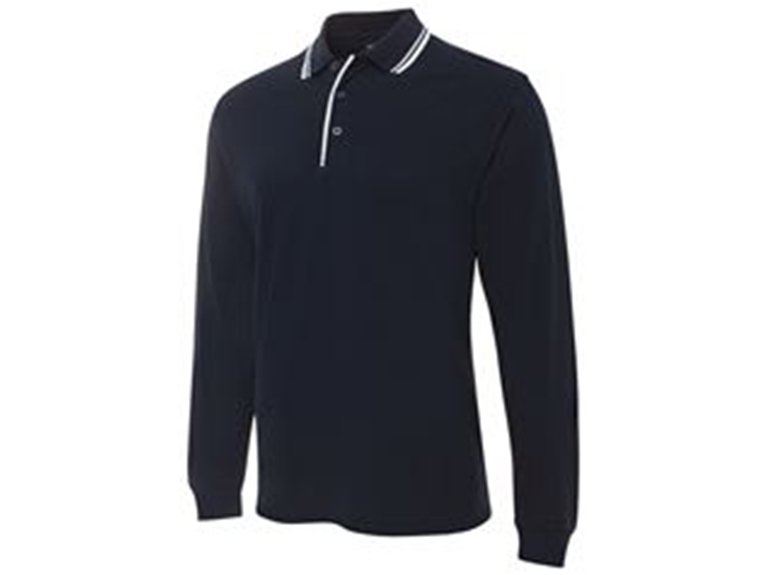ballarat embroidery team and workwear ls contrast polo