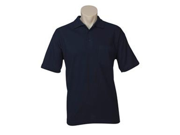 ballarat embroidery team and workwear men pocket pique knit polo