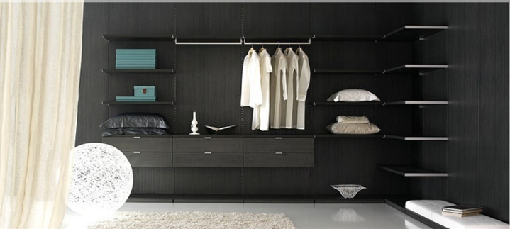 black themed bedroom fitting