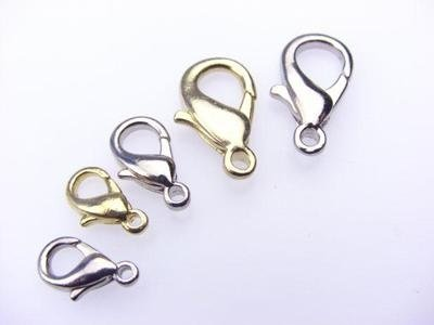 carabiners with golden nickel finish