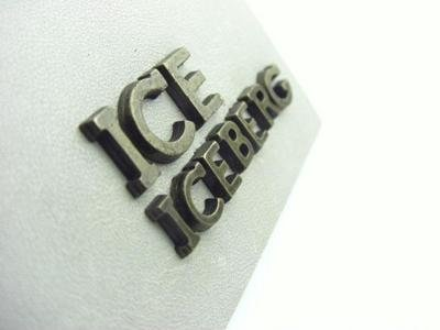 Iceberg leather label and plaques