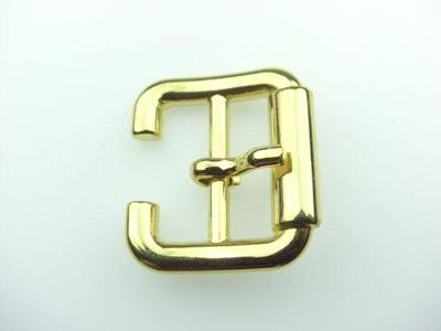 gold-coloured metal buckle