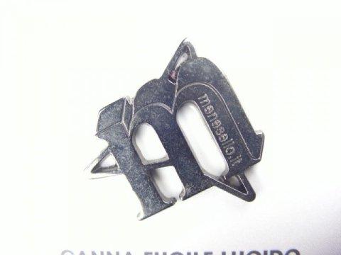 Glossy gunmetal finish