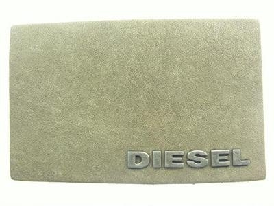 Diesel leather label and plaque