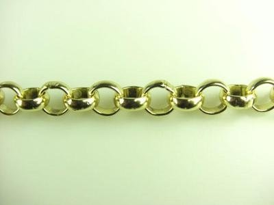 rounded brass chain