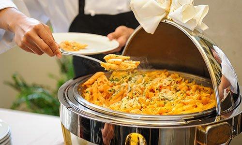 Food tray pasta