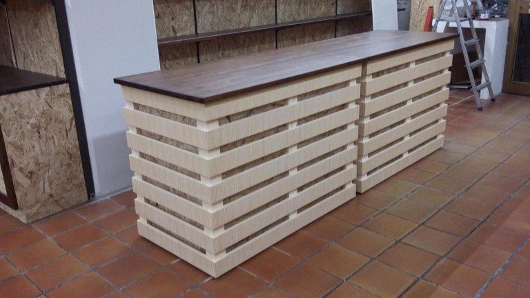 bancone in legno