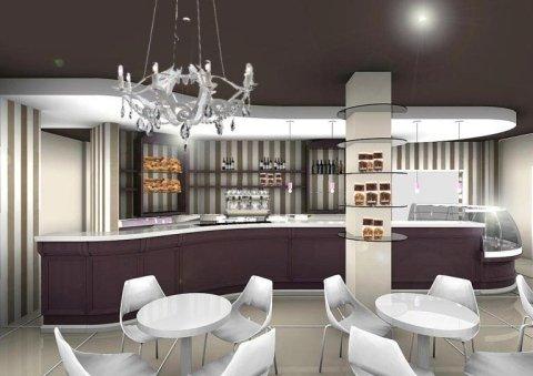 design elegante e minimale per un bar