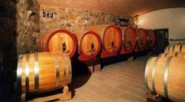 ampia cantina di vino locale al ristorante la rustica di cammarata in provincia di agrigento