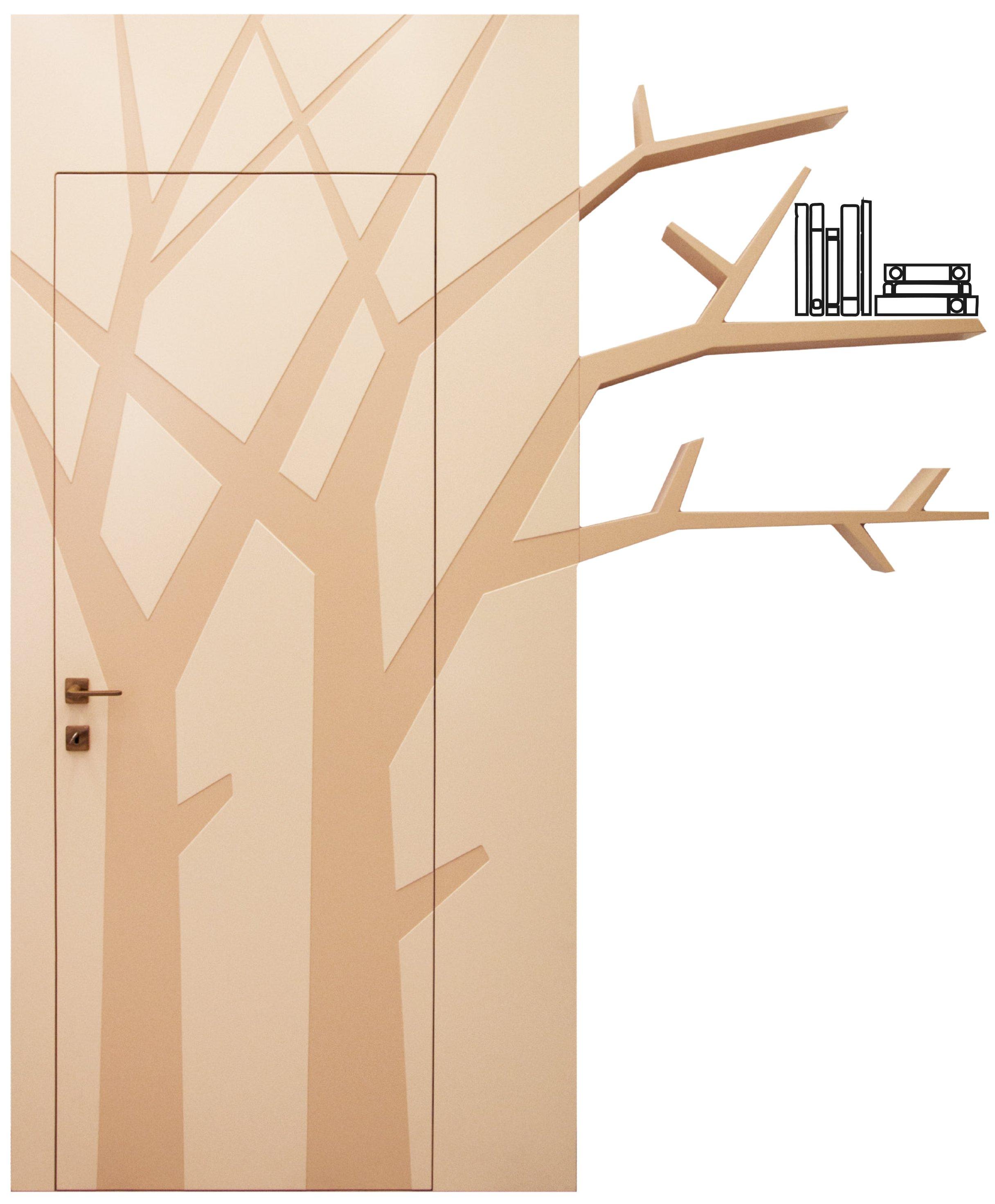 Porta ramo con libreria