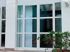 porta ingresso vetri bianca
