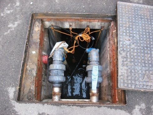 pozzo acque di scarico aperto