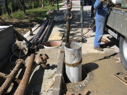 cantiere recupero pozzo artesiano