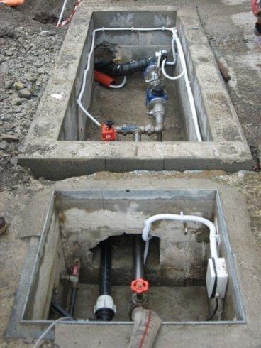 lavorazione impianto distribuzione acqua