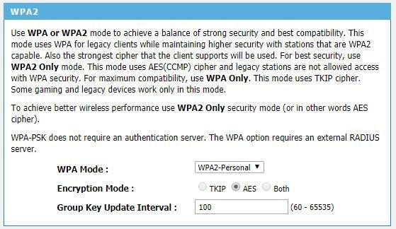 Pilih mode enkripsi AES yang relatif lebih aman KRACK daripada TKIP