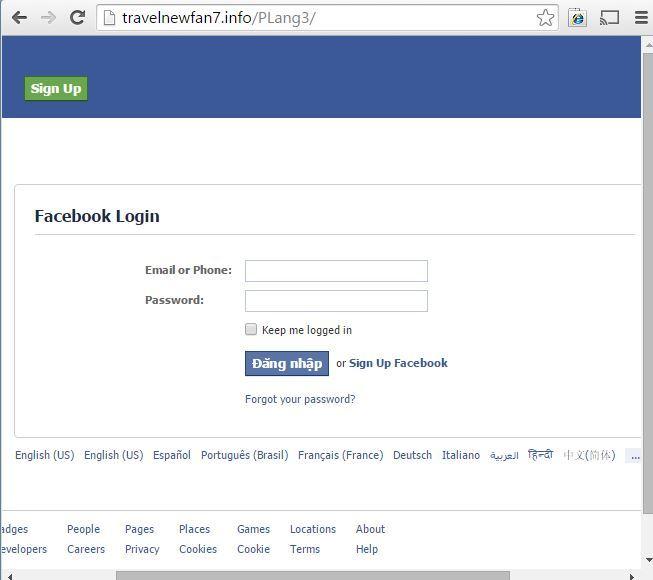 Situs Phishing pencuri password yang digunakan Vietnam Rose