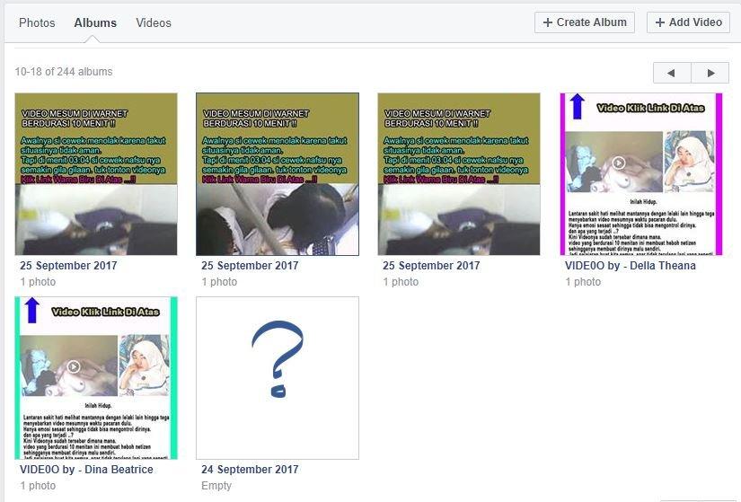 Mengidentifikasi gambar porno di Album Group FB