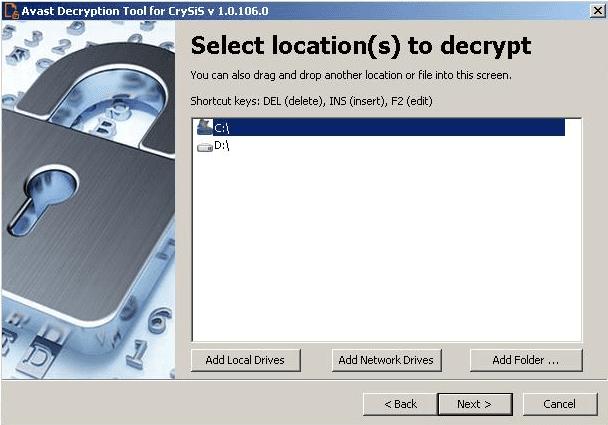Gambar 3, Layar utama Avast Decryptor Tools