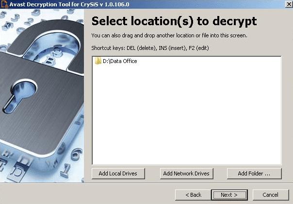 Gambar 4, Daftar Drive/folder yang akan di periksa