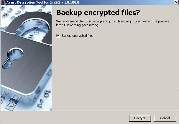 Gambar 5, Backup encryted files