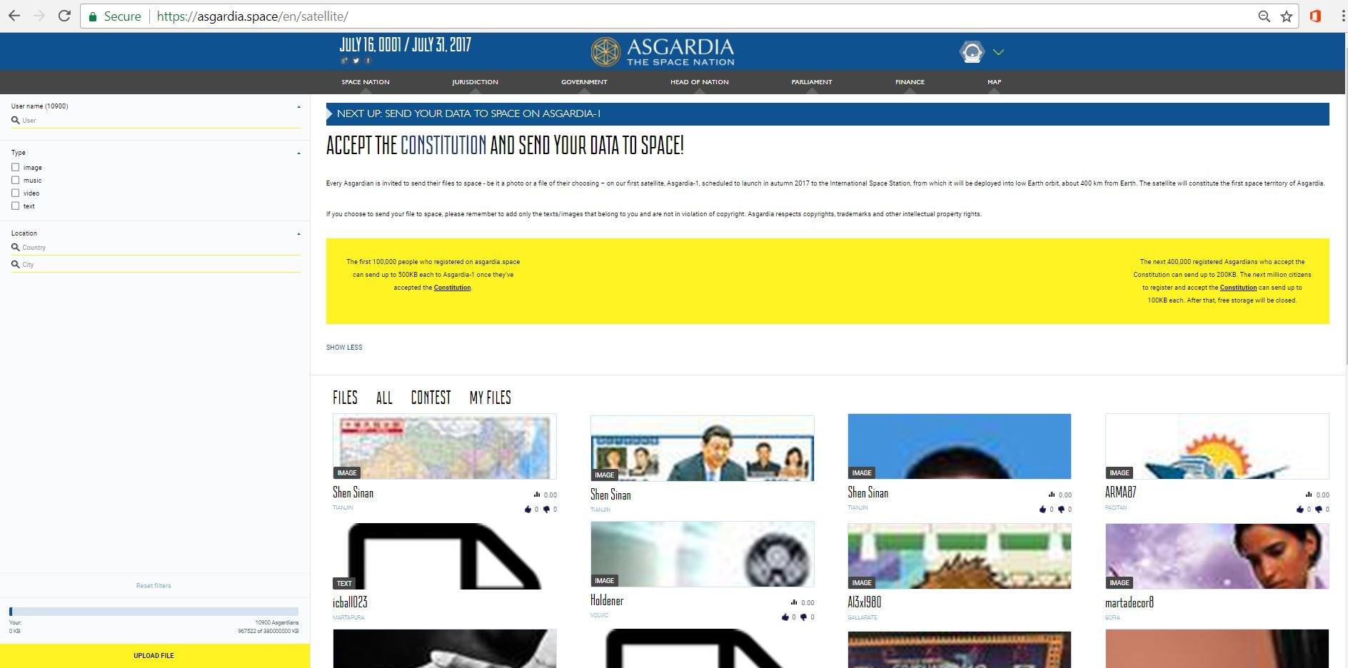Kirim data anda ke ruang angkasa menjadi gimmick marketing Asgardia