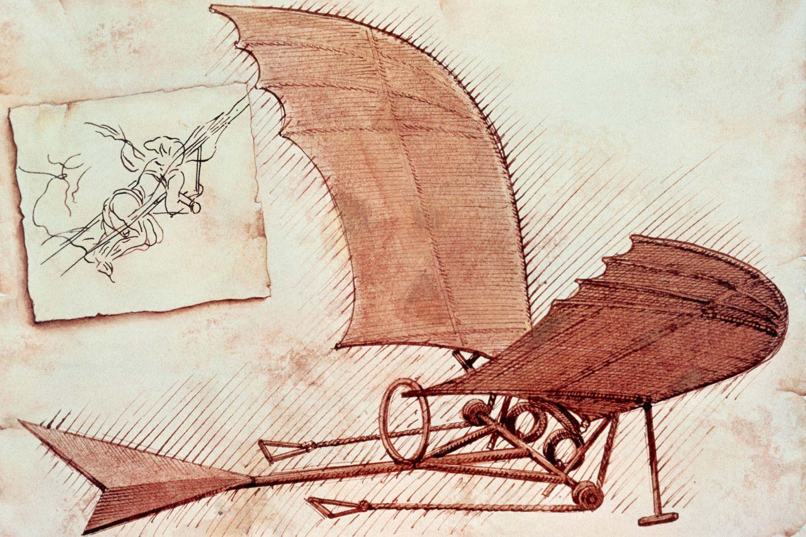 Leonardo da Vinci dream of flying
