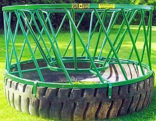 round bale wagon