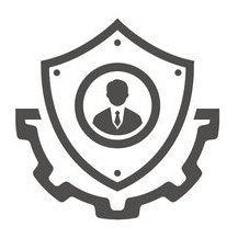 shield icon with man on it