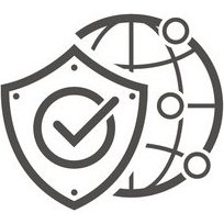 globe icon partially blocked by shield