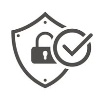 shield with a lock and check mark