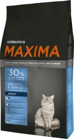 alimenti per gatti salmone e riso maxima