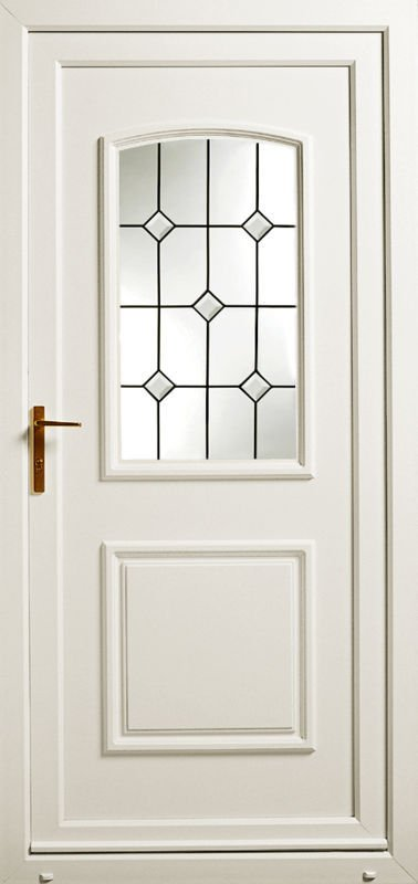 beige coloured door with designer glass