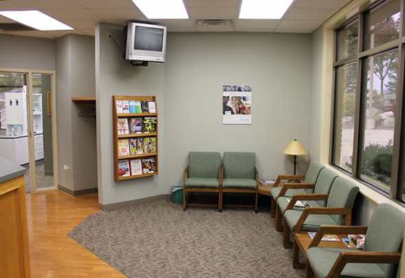 Waiting room for our family and cosmetic dentistry office in Lincoln, NE
