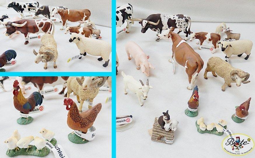 Torta animali della fattoria mucca e asinello paper