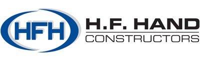 hf hand constructors business logo