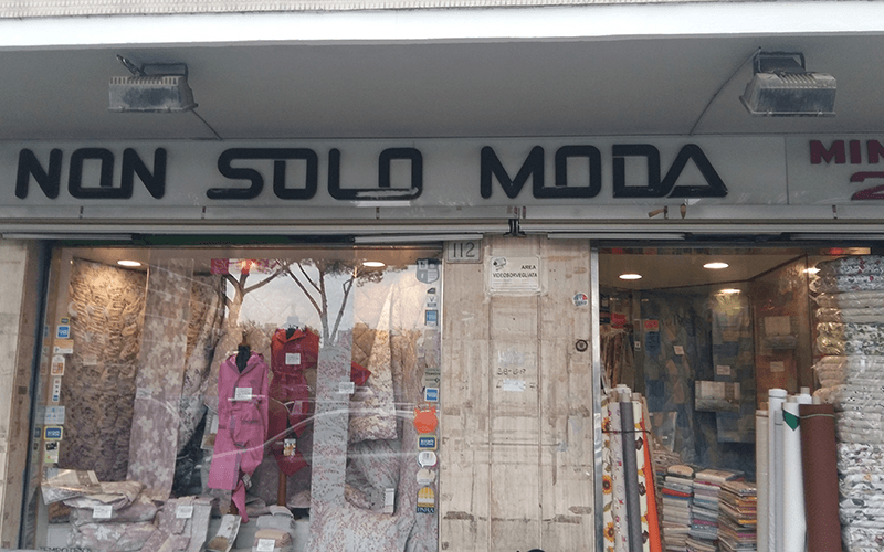 negozio di tessuti roma