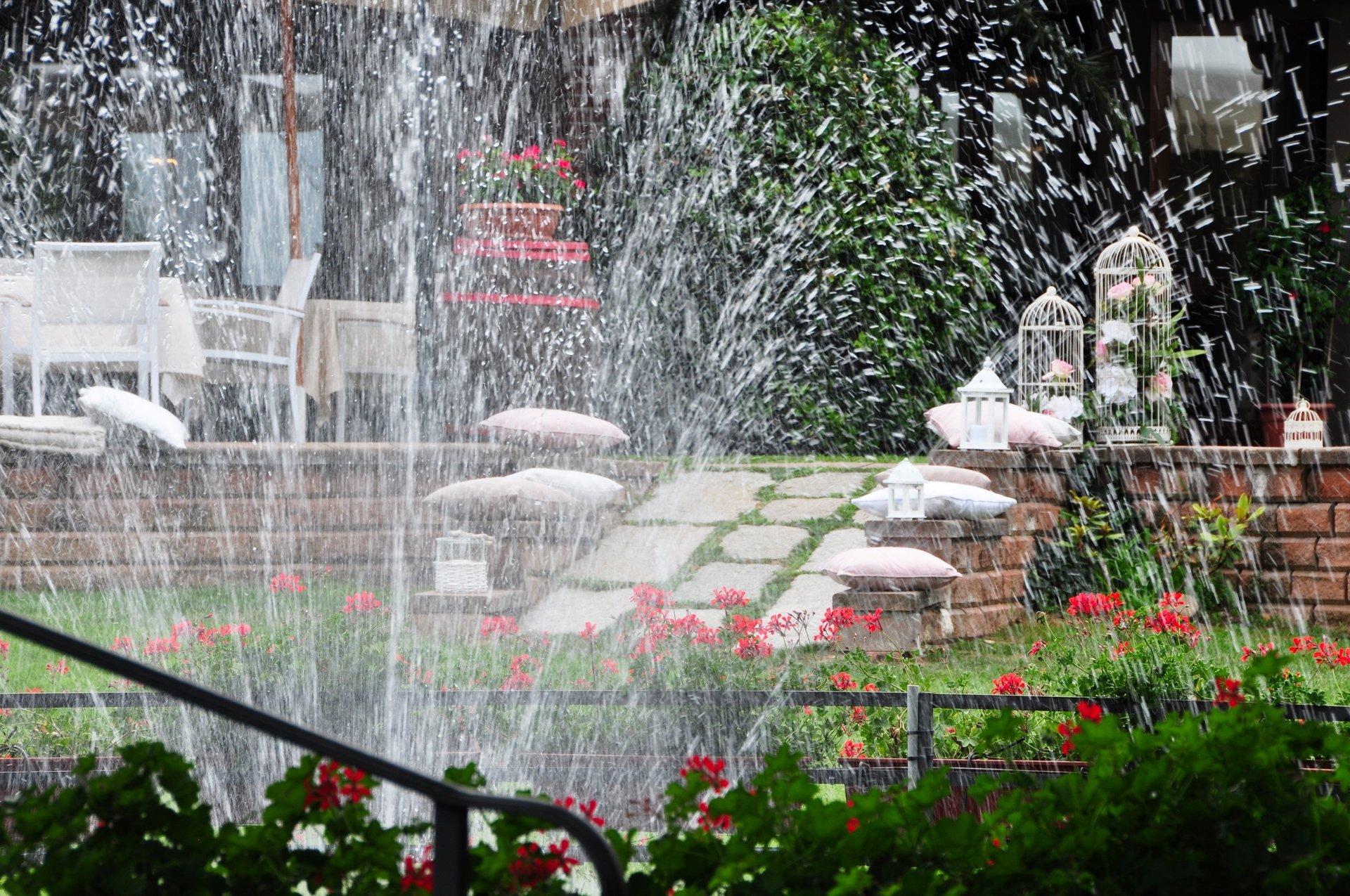 fontana del parco esterno