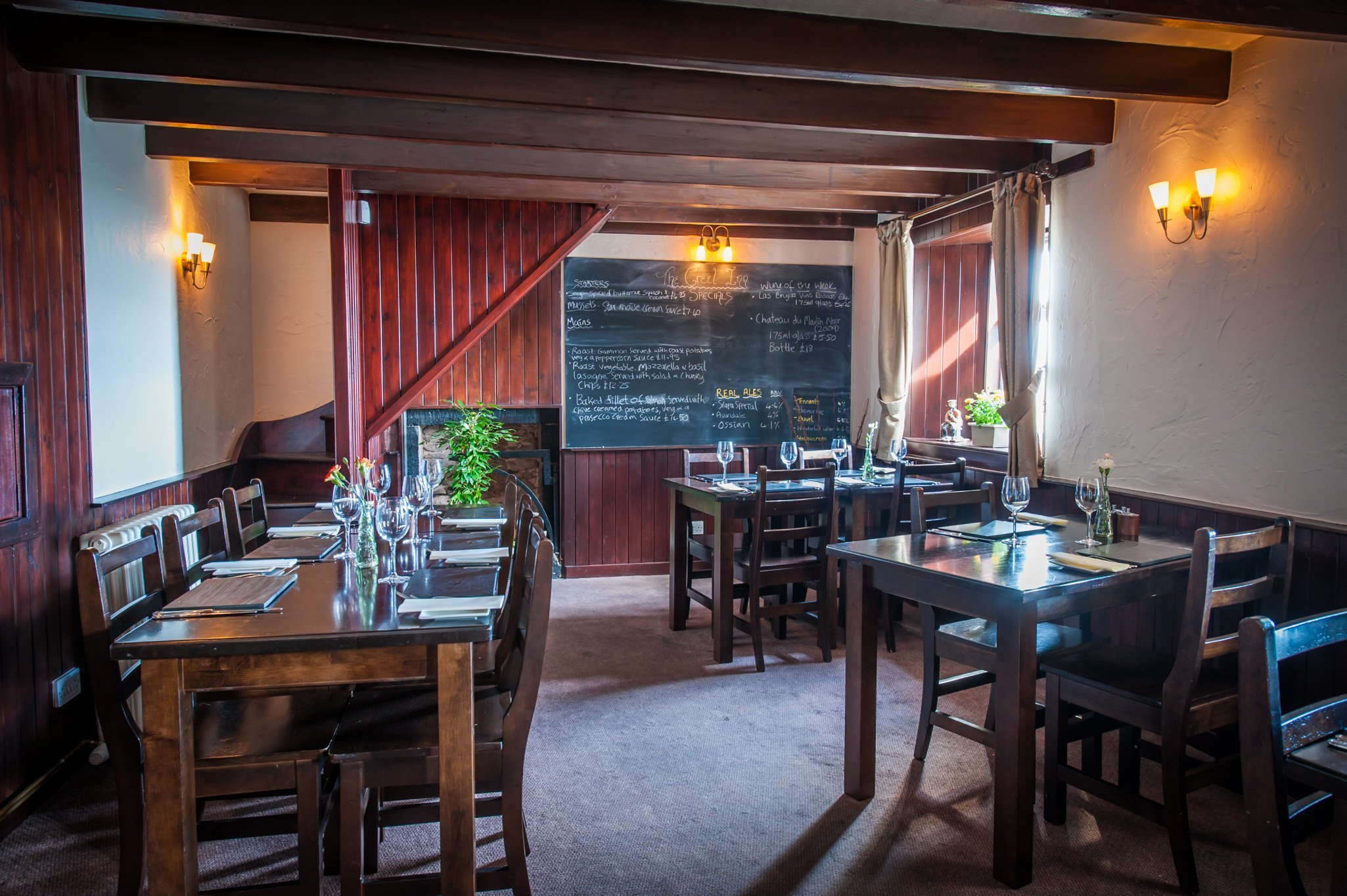 Interior of our fish restaurant in Catterline