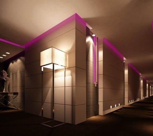 Corridoio luminoso Hotel