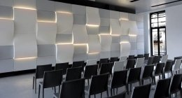 Meeting room moderna, stanza per meeting