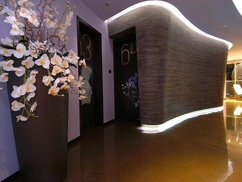 Corridoio moderno per hotel