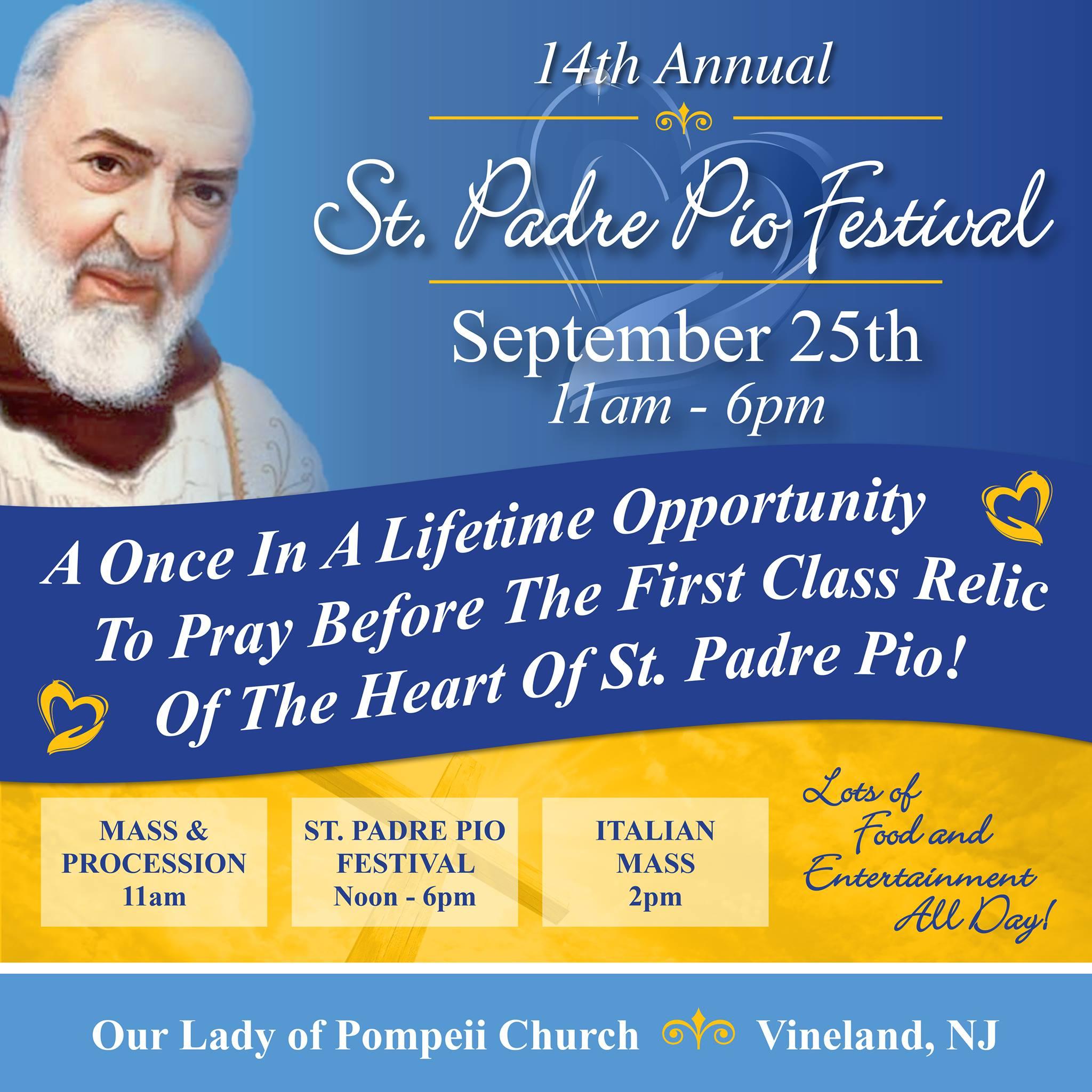 St Padre Pio Festival