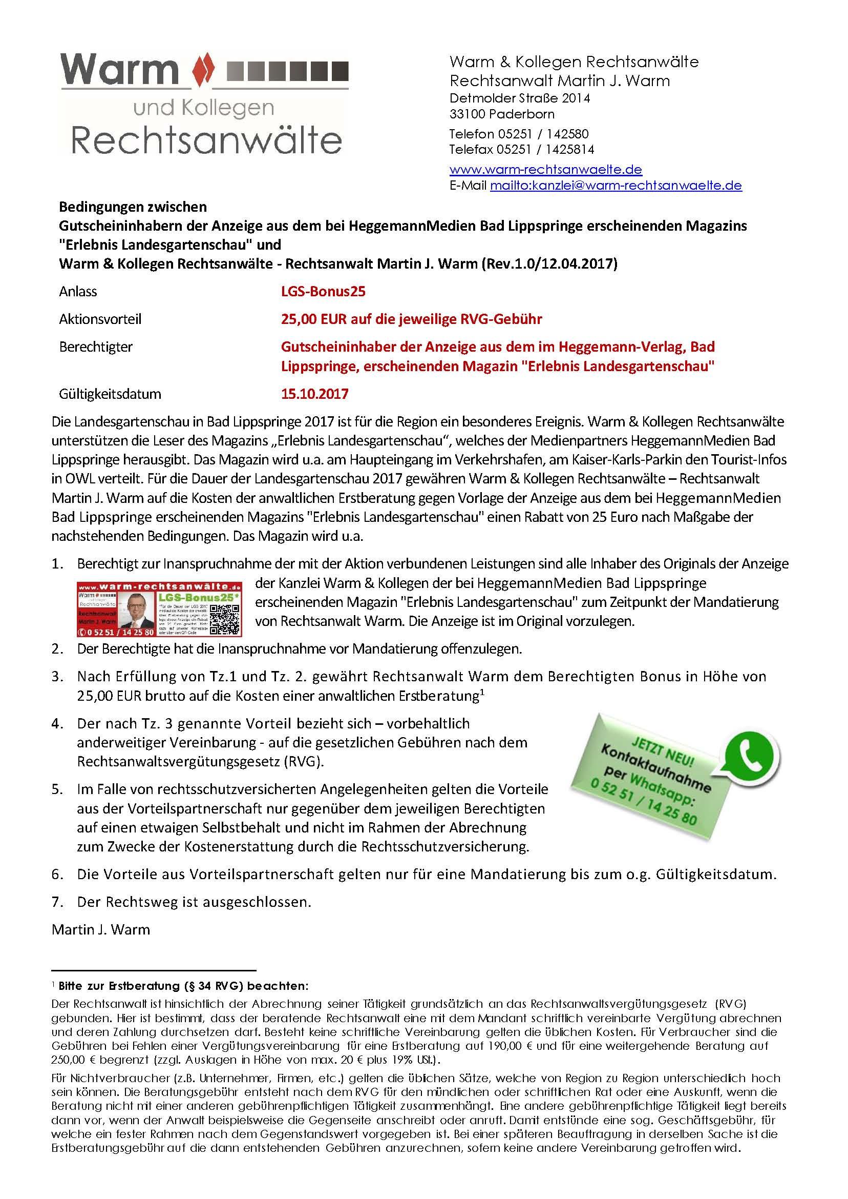 Hier befinden sich die Bedingungen zu LGS-Bonus25, Seite 1