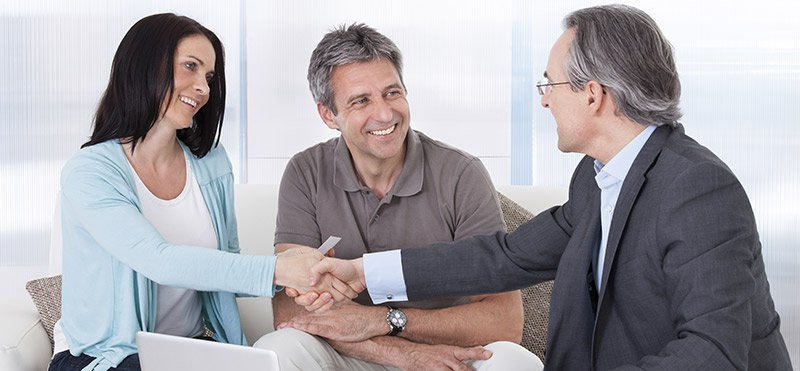 Couple meeting with one of our superannuation advisers in Nerang