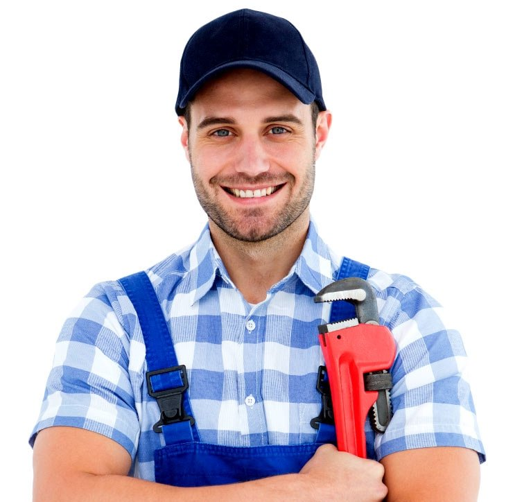 plumber smiling