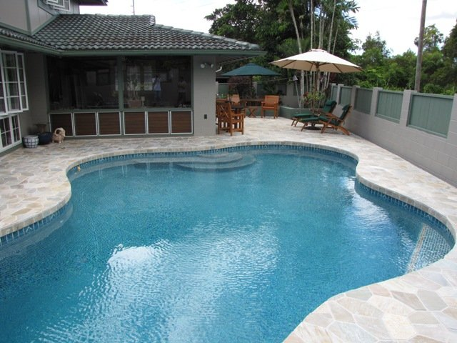 Pool maintained by a pool contractor n Kailua, HI