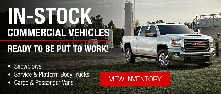 In-Stock Commercial Vehicles Ready To Be Put To Work!