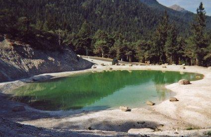 Bacino artificiale a Trento