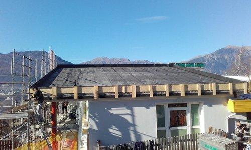 tetto verde in pendenza